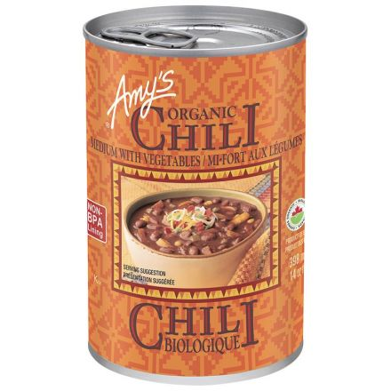 Organic Canned Medium Chili with Vegetables